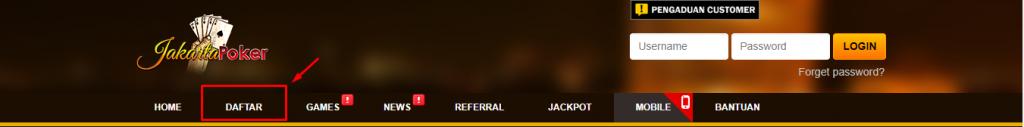 menu daftar situs judi online